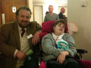 One of our children meets Patron, James Lewis